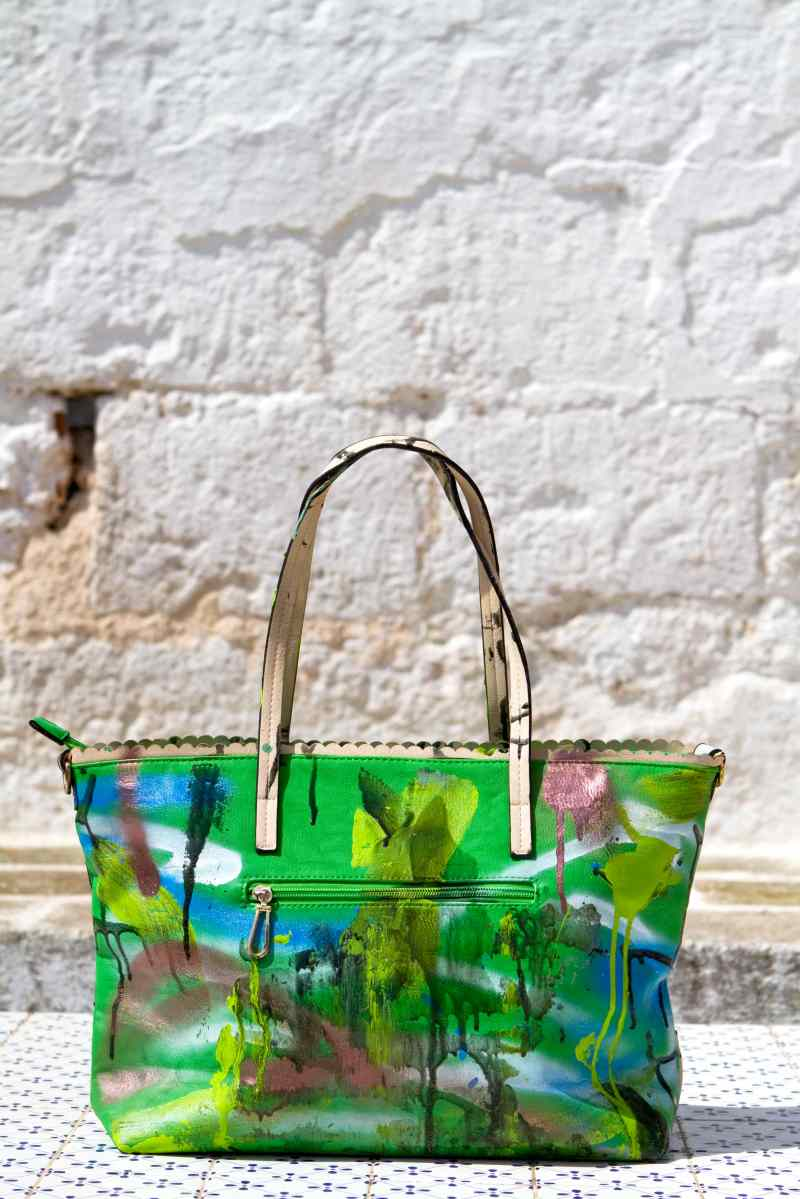 Grandmother Bag Collection #11, 2013 graffiti bag. unique size, unique piece