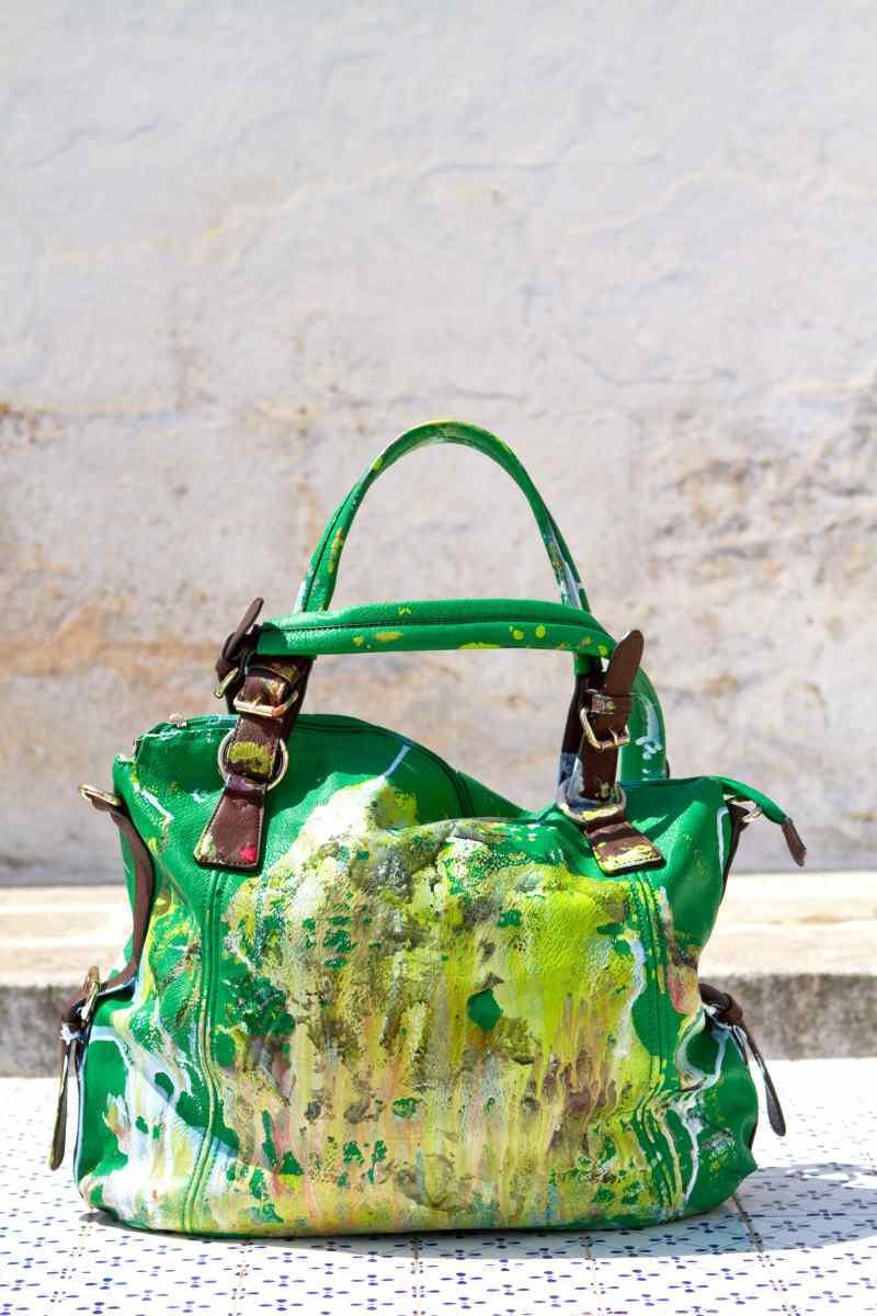 Grandmother Bag Collection #7, 2013 graffiti bag, unique size, unique piece
