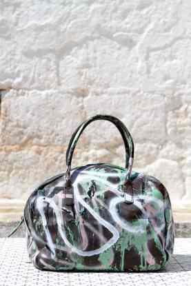 Grandmother Bag Collection #8, 2013 graffiti bag, unique size, unique piece