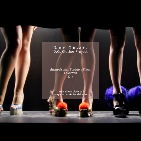 Daniel González D.G. Clothes Project, Bastardisation Sculpture Shoes Collection, 2014