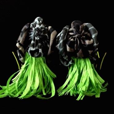 Criminal Aesthetic Fashion #15, 2013, cotton textures, wings and rafia, size n40 / 9, unique piece