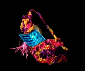 Criminal Aesthetic Fashion #16, 2013, cotton textures, wings and rafia, size n37 / 7, unique piece