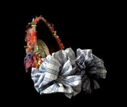 Criminal Aesthetic Fashion #17, 2013, wool, cotton textures, size n39 / 8, unique piece