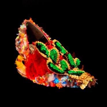 Criminal Aesthetic Fashion #21, 2013, wool, paillettes decoration and plumes, size n38 / 7, unique piece