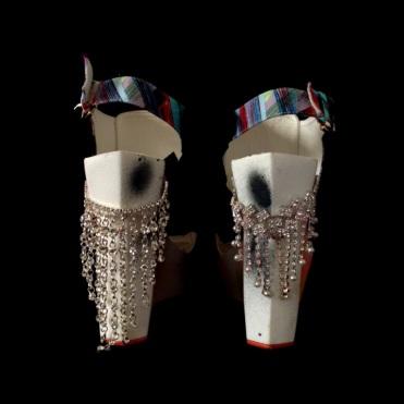 Criminal Aesthetic Fashion #23, 2013, felt, bijou and spray, size n38 / 7, unique piece
