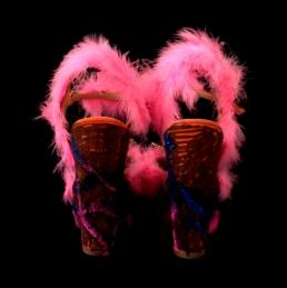 Criminal Aesthetic Fashion #2, 2013, fur, glitter and paillettes decoration, size n 40 / 9, unique piece