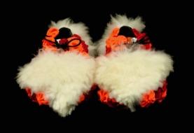 Criminal Aesthetic Fashion #31, 2013, fur, glitter and cotton texture, size n39 / 8, unique piece