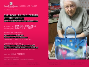 The Door to the Origin of the World with Grandmother Bag Collection INVITATION