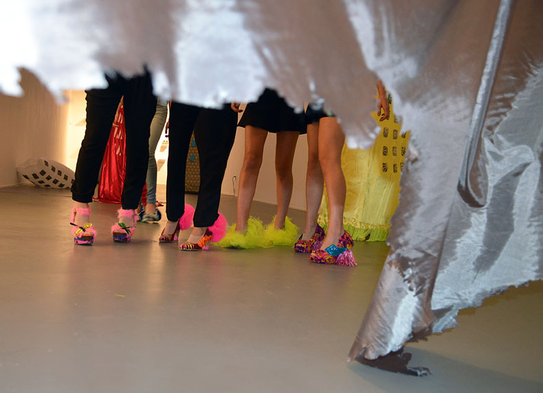 Criminal Aesthetic Fashion at the Skyscraper Club, performance, Diana Lowenstein Gallery, Miami, 2013