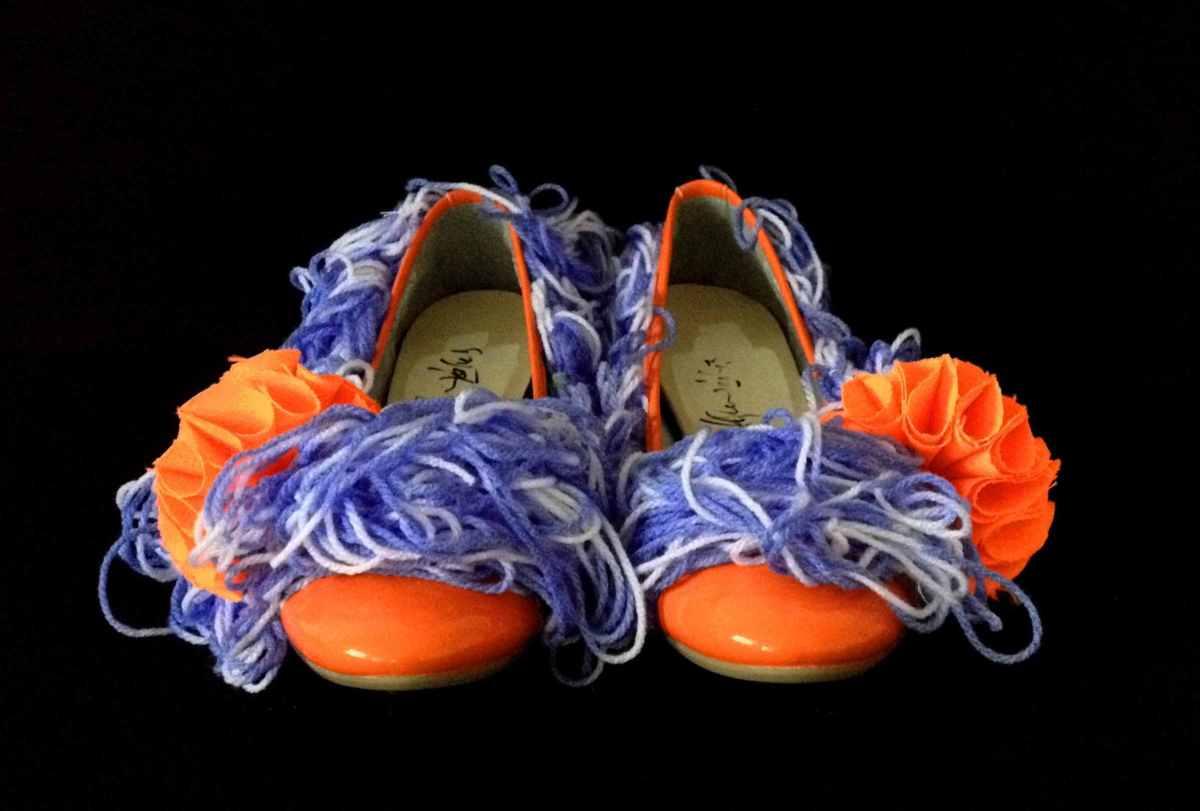 Juliet & the Forbidden Games Shoes #20, 2013, wool and technic textiles, unique piece