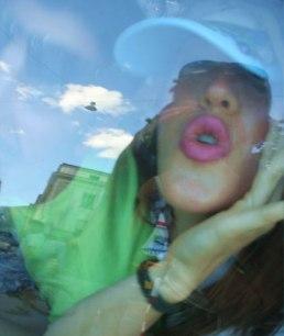Blow my car, Babe, performance frame, Kunsthalle Locarno, Switzerland, 2006