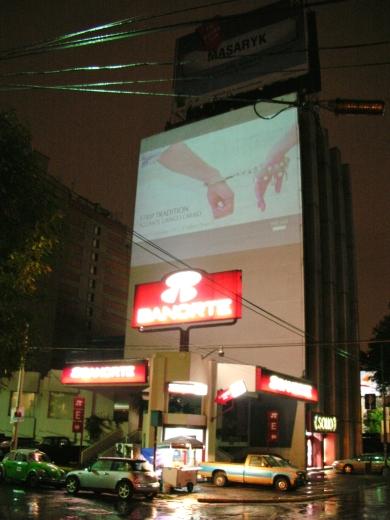 Strip Tradition Gringo Aguante Carajo, advertisement, Sony Center, Berlin, 2006
