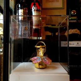 Daniel González, Juliet & the Forbidden Games Shoes #21, 2013 on show at Casa Mazzanti Caffè Verona, for the whole month