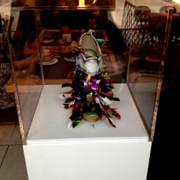 Daniel González, Juliet & the Forbidden Games Shoes #2, 2013 on show at Casa Mazzanti Caffè Verona, for the whole month
