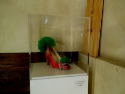 Daniel González, Juliet & the Forbidden Games Shoes #10, 2013 on show at Casa Mazzanti Caffè Verona, for the whole month
