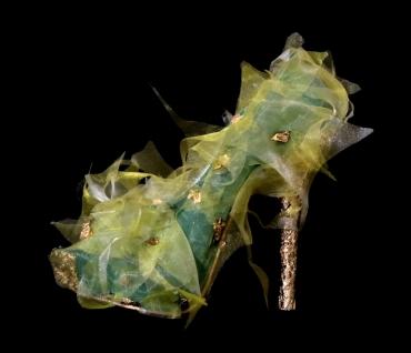Bastardisation #1, 2014, tulle and gold leaf, size n38 unique piece