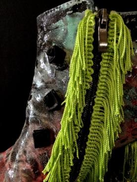 Bastardisation #6, 2014, spray paint, finges, roses, pearls, and bijou size n38 unique piece