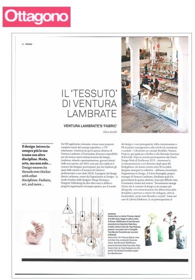 """Silvia Airoldi, Il """"Tessuto"""" di Ventura Lambrate, Ottagono_n.4/2014, p 82_aprile 2014"""