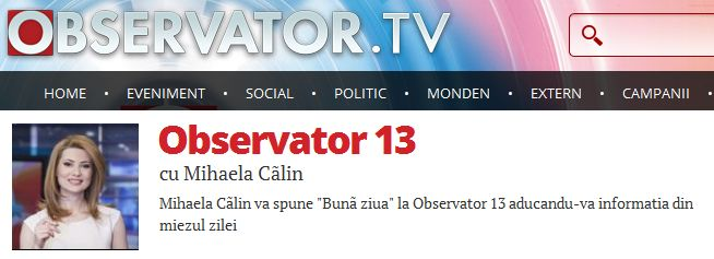 Observator 13 TV, Romania, ed april 14th, 2014