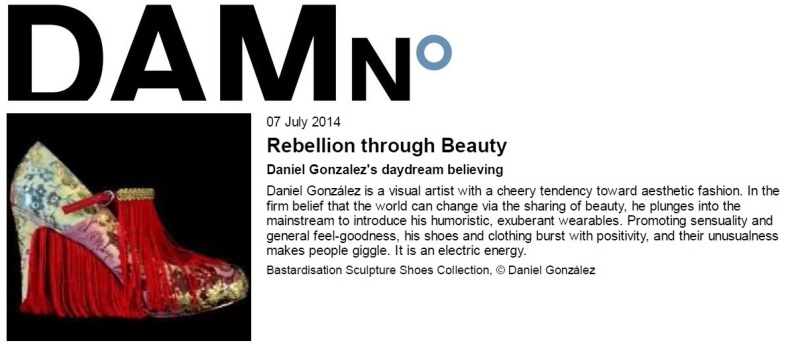 Veerle Devos, Daniel González, Rebellio Through Beauty, interview, DAMn° 45 Magazine, July 2014