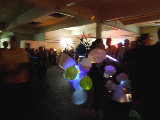 Bohemian Texas Street Home Fashion Show, Pinball Room performance, Luminaria 2014