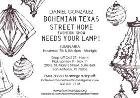 Daniel González D.G. Clothes Project, Call for Lamps, Luminaria 2014