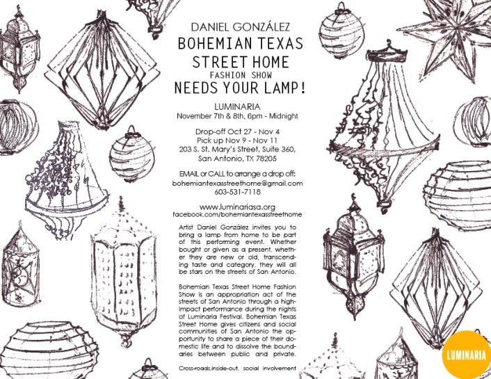 Daniel González D.G. Clothes Project, Call for Lamps, Luminaria 2014