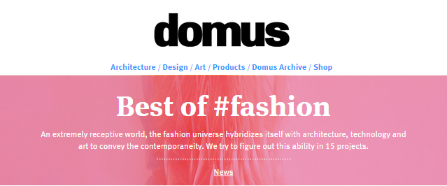 Domusweb, Best of #fashion 2014