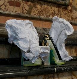 Daniel González D.G. Clothes Project, Cut-Up Sculpture Shoes Collection #3, 2015, size 37 - unique piece