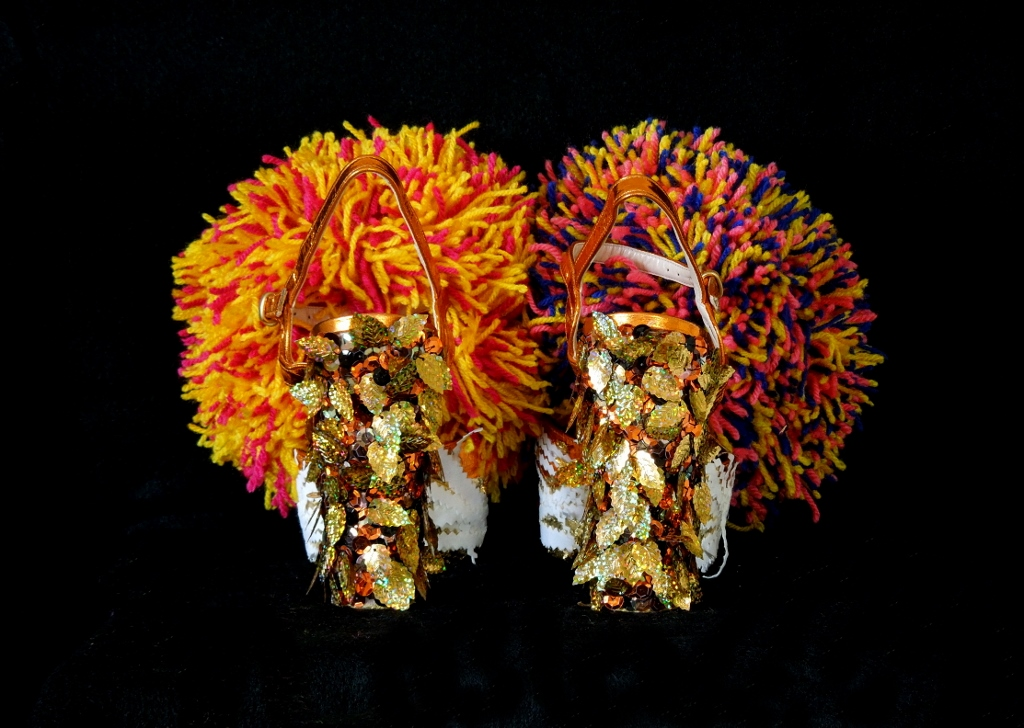 Daniel González D.G. Clothes Project, Cut-Up Sculpture Shoes Collection #7, 2015, size 39 - unique piece