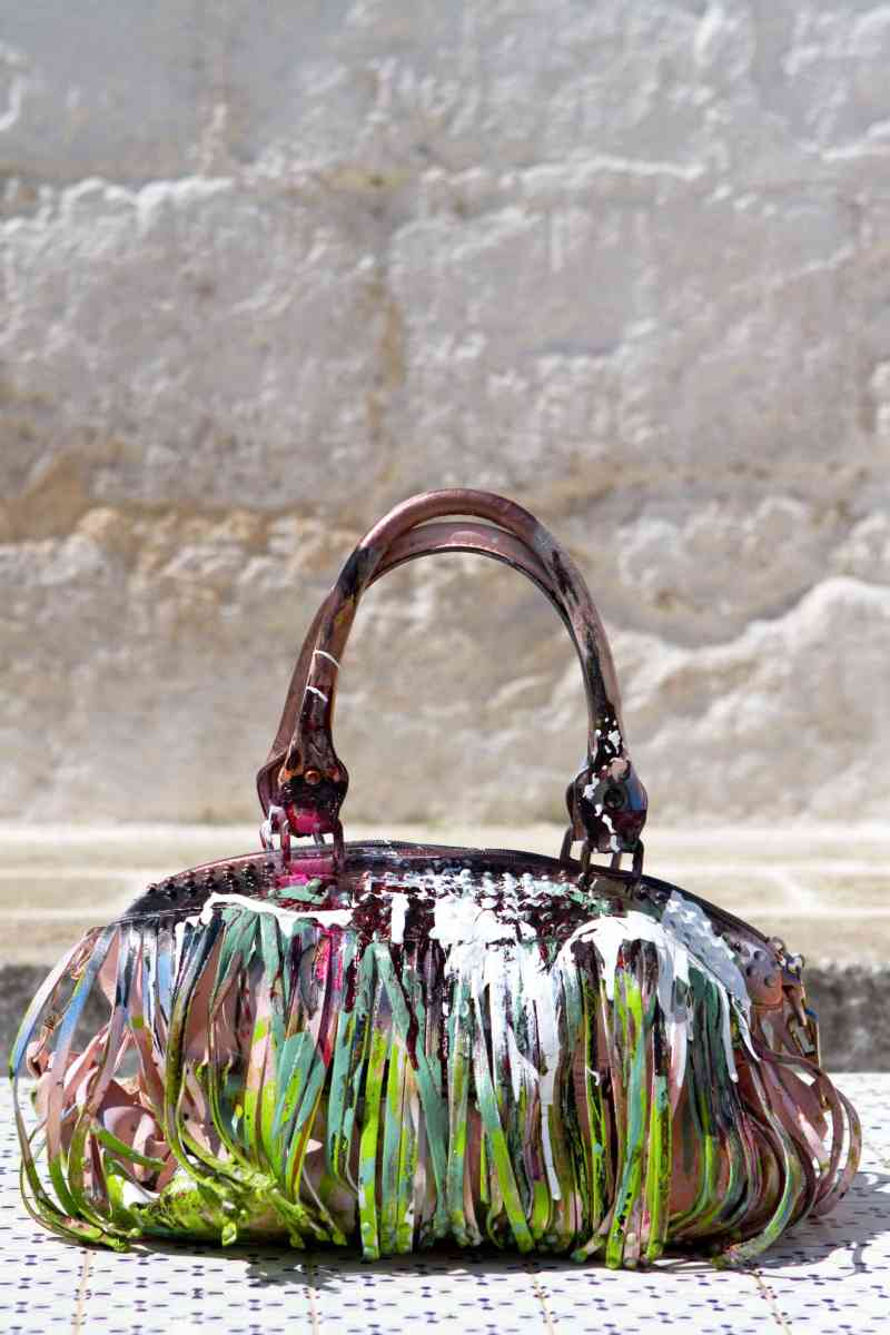 Grandmother Bag Collection #4, 2013 graffiti bag. unique size, unique piece