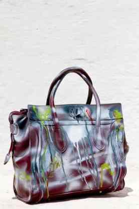 Grandmother Bag Collection #5, 2013 graffiti bag. unique size, unique piece