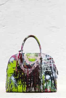 Grandmother Bag Collection #9, 2013 graffiti bag, unique size, unique piece