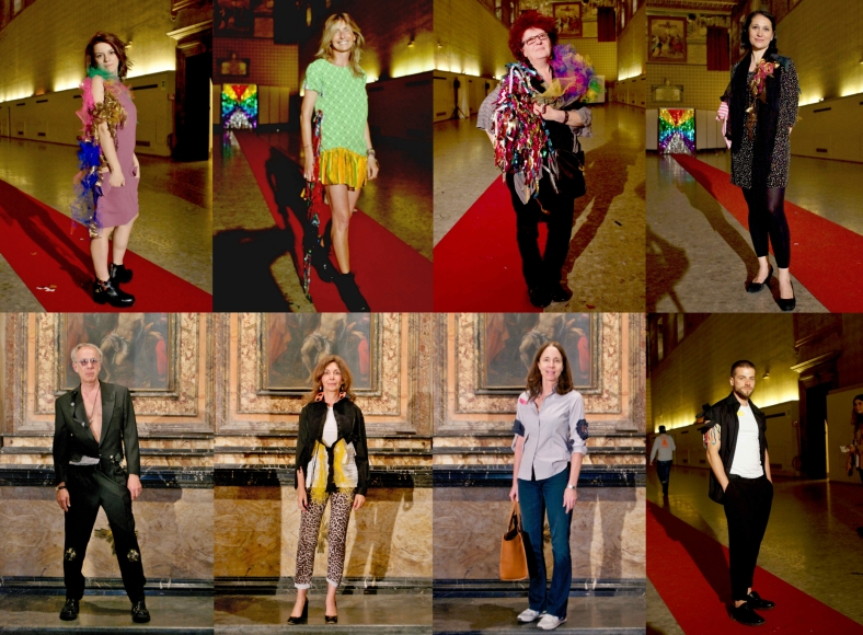 Portrait Fashion Factory, performance by Daniel González D.G. Clothes Project, Rome, May 15, 2015
