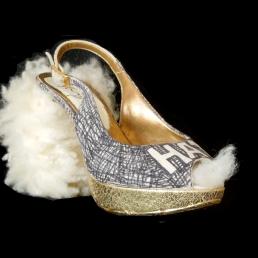 Cut-Up Sculpture Shoes Collection #9, 2017, unique piece