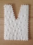 Tote bag: white ostrich