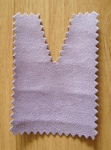 Tote bags: lilac eco-suede